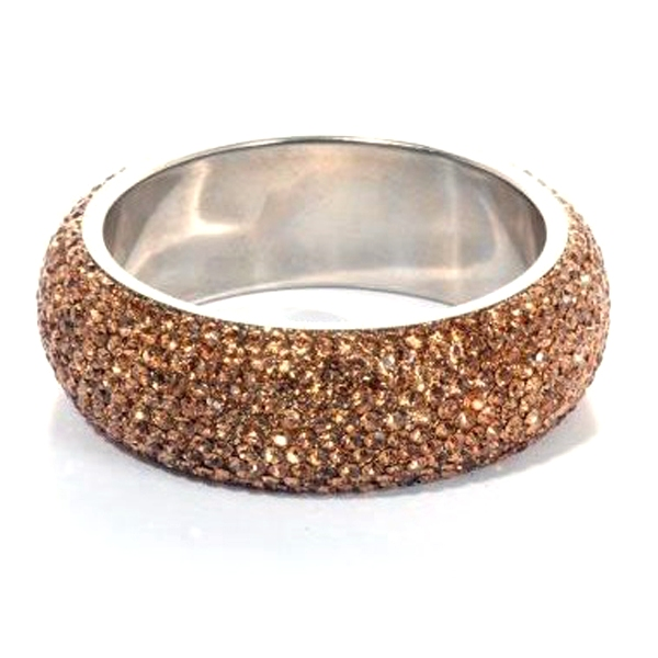 Sparkling Gold Crystal Bangle with 9 rows of Crystals