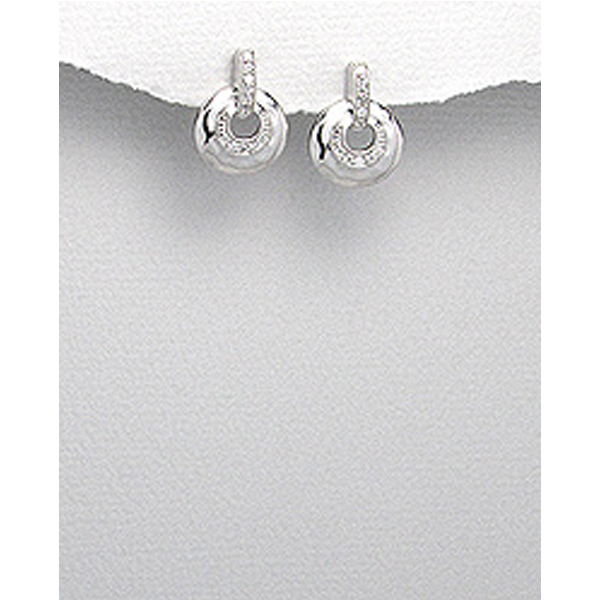 Silver and Cubic Zirconia Earrings