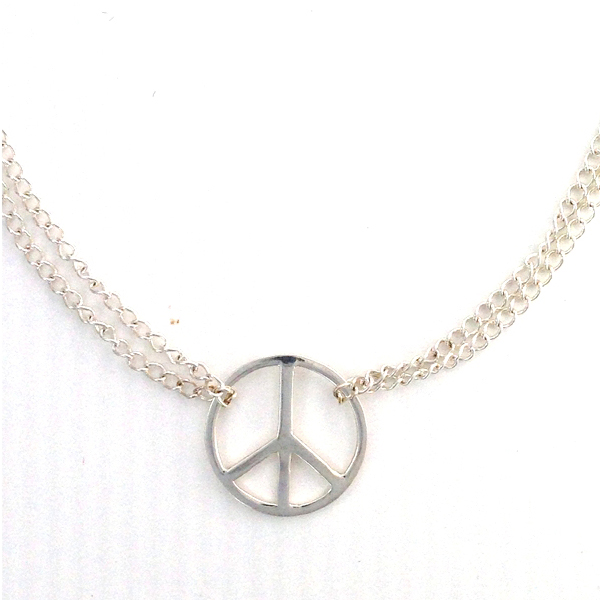 Sterling Silver bracelet with peace charm