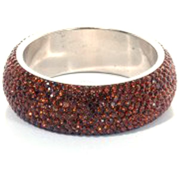 Sparkling Bronze Crystal Bangle with 9 rows of Crystals