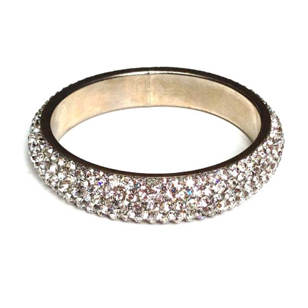 Sparkling Clear Crystal Bangle with 5 rows of Crystals