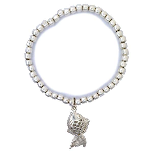 Sterling Silver Bracelet with Fish Charm