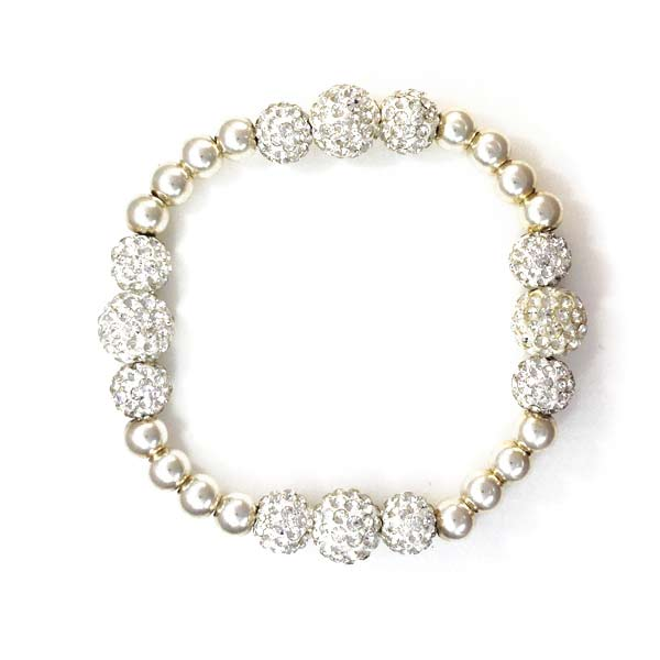 Sterling Silver and Swarovski ball bracelet