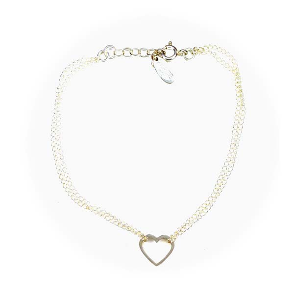 Sterling Silver bracelet with heart charm