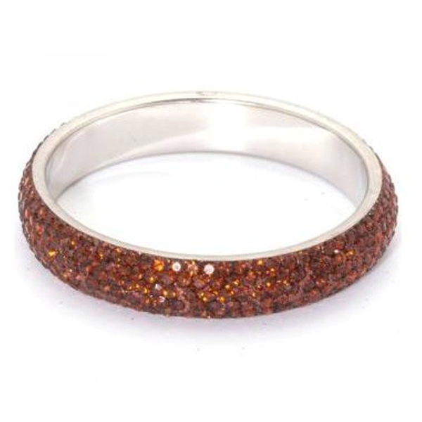 Sparkling Bronze Crystal Bangle with 5 rows of Crystals