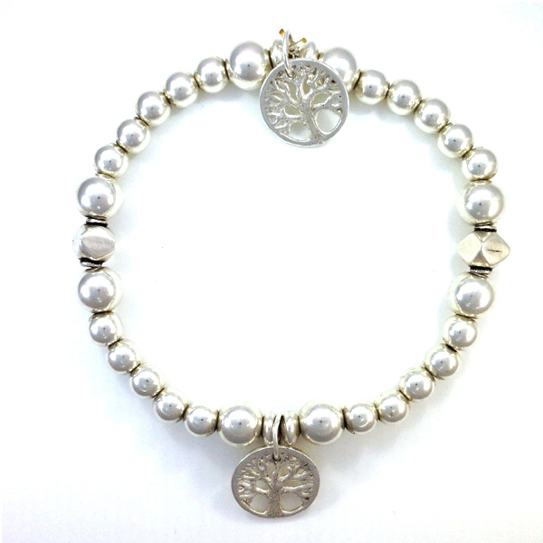 Sterling Silver and tree Charm Bracelet
