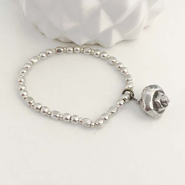 Silver Charm Stacking Bracelet