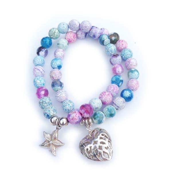 Sterling Silver and semi precious stone stacking bracelets